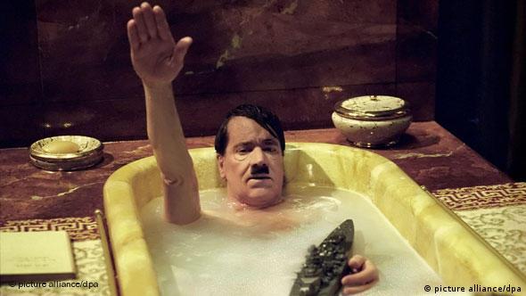 Helge Schneider portraying Adolf Hitler in the film My Führer