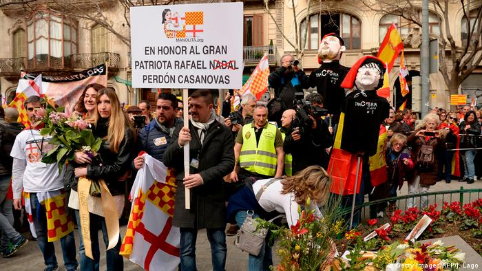 A pro-unity rally organized by Tabarnia movement in Barcelona (Getty Images/AFP/J. Lago)
