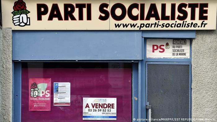 A shuttered PS office in France (PS) (picture-alliance/MAXPP/L'EST REPUBLICAIN/A. Marchi)