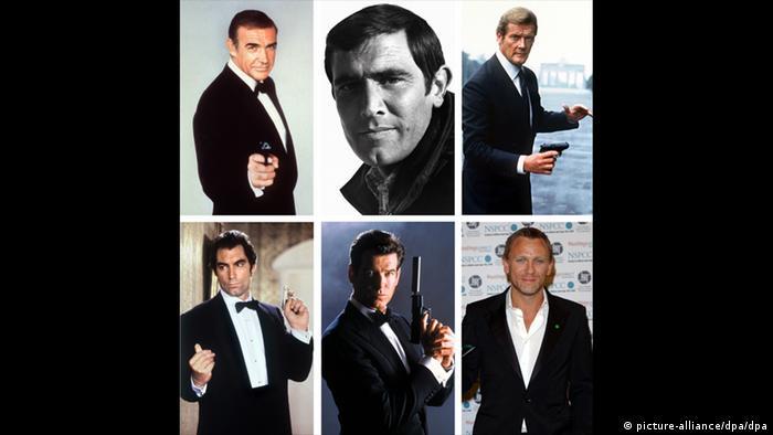 Bildkombo James Bond-Darsteller (picture-alliance/dpa/dpa)