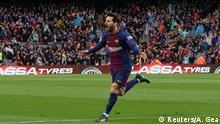 La Liga - FC Barcelona vs Atletico Madrid Messi Tor