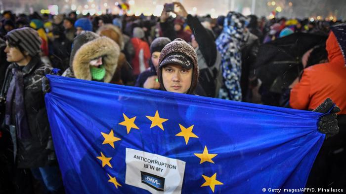 Proteste in Bukarest (25.02.2019) (Getty Images/AFP/D. Mihailescu)