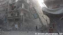 Syrien Assad kündigt Fortsetzung der Angriffe auf Ost-Ghuta an