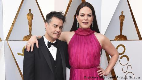 Sebastian Lelio and Daniela Vega at the Oscars (picture alliance/AP Photo/J. Strauss)