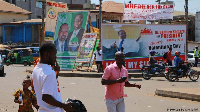Election posters in Freetown