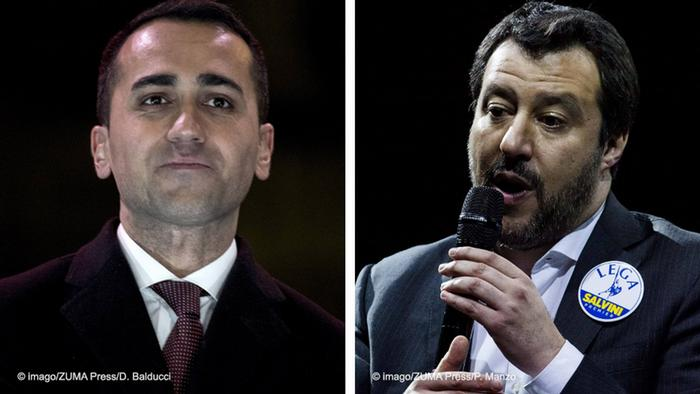 Italien Wahl 2018   Kombibild Luigi Di Maio und Matteo Salvini