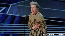 90th Academy Awards - Oscars Show - Hollywood, California, U.S., 04/03/2018 - Frances McDormand accepts the Best Actress Oscar for her performance in Three Billboards Outside Ebbing, Missouri. REUTERS/Lucas Jackson