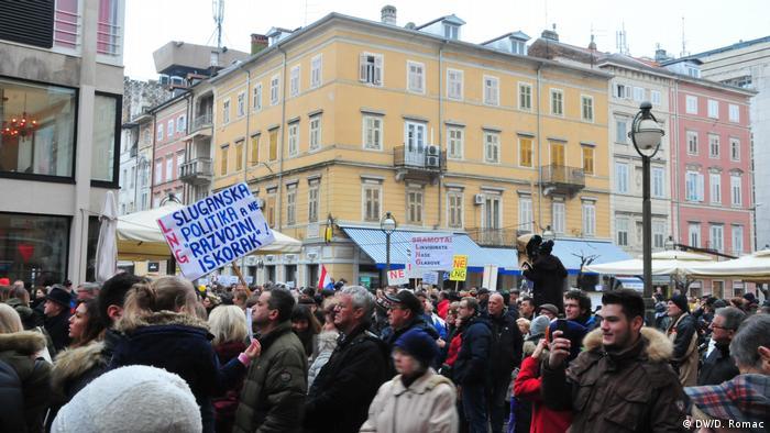Kroatien Protest gegen LNG-Terminal in Omišalj (DW/D. Romac)