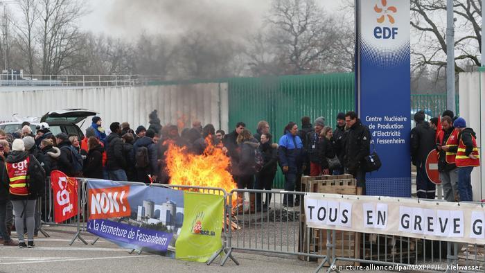 Frankreich Streik am AKW in Fessenheim