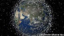 Computersimulation Weltraumschrott