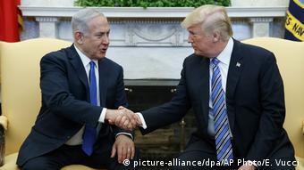 USA israelischer Ministerpräsident Benjamin Netanyahu besucht den US-Präsidenten Donald Trump