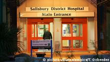 Salisbury incident. File photo dated 16/08/05 of the main entrance of Salisbury District Hospital. A man in the hospital after he was believed to have been exposed to an unknown substance is a former Russian spy, it is understood. Issue date: Monday March 5, 2018. The BBC reported Sergei Skripal, 66, is critically ill along with a woman, believed to be known to him, after they were found unconscious on a bench in a shopping centre in Salisbury, Wiltshire. See PA story POLICE Substance. Photo credit should read: Tim Ockenden/PA Wire URN:35370526  
