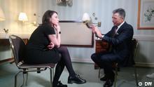 DW Interview Zhanna Nemtsova mit Anders Fogh Rasmussen, Ex-Generalsekretär der Nato