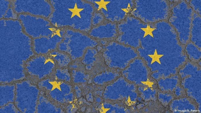 Symbolbild Flagge EU Erosion