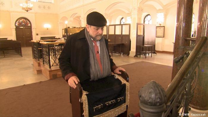 Warschauer Synagoge Großrabbiner Michael Schudrich (DW/P. Kajszczak )