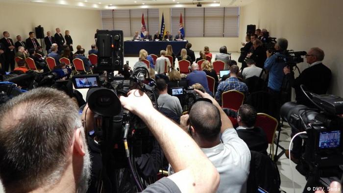 Staatspitze Serbiens, Kroatiens und Bosnien-Herzegowinas beim Treffen in Mostar