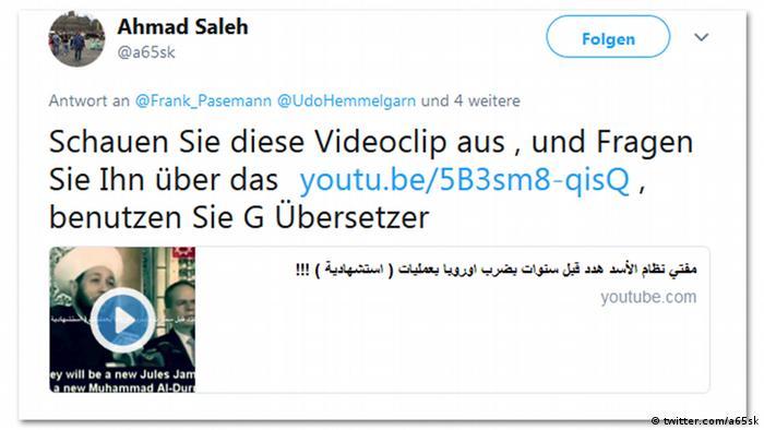 Screenshot Twitter Ahmed Salah (twitter.com/a65sk)