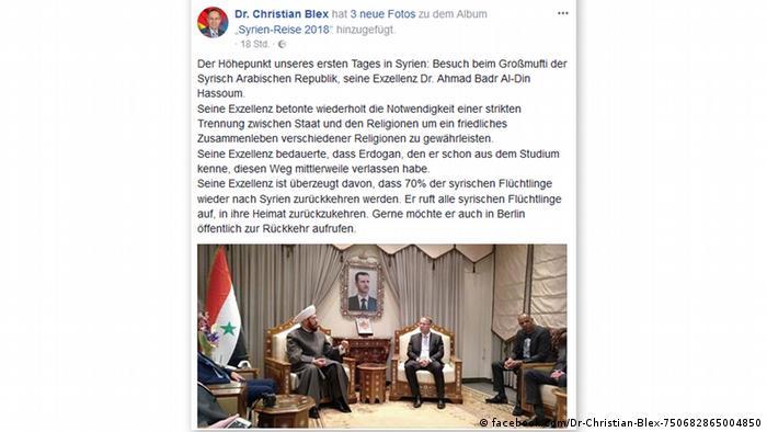 Screenshot Facebook Christian Blex, AfD (facebook.com/Dr-Christian-Blex-750682865004850)