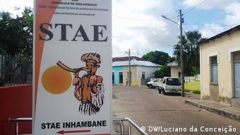 Mosambik STAE-Plakat - Wahlverwaltung - Provinz Inhambane