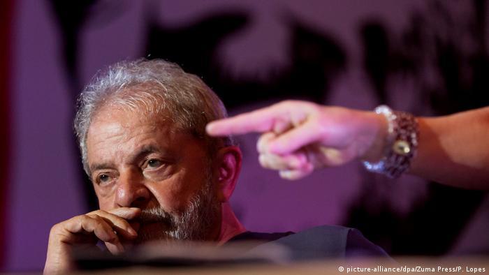 Brasilien Ex-Präsident Luiz Inacio Lula da Silva in Sao Paulo (picture-alliance/dpa/Zuma Press/P. Lopes)