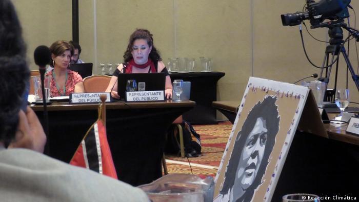 A photo of Berta Caceres (Reacción Climática)