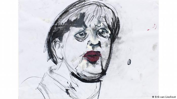 Erik van Lieshout drawing of Angela Merkel (Erik van Lieshout)