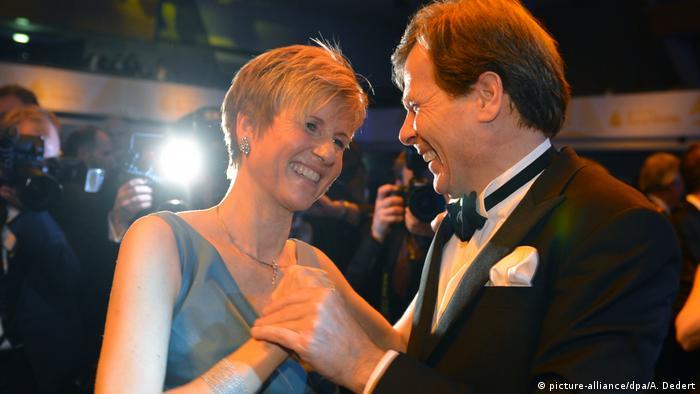 Susanne Klatten dancing with her husband Jan Klatten at a ball in 2013