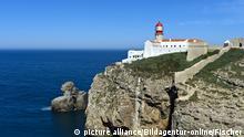 Portugal - Leuchtturm am Kap Sankt Vinzenz, Kap St. Vicente, Cabo de São Vicente, Sagres, Algarve