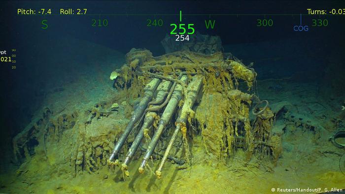 Versunkenes Wrack der USS Lexington - Flugzeugträger im Zweiten Weltkrieg der U.S. Navy (Reuters/Handout/P. G. Allen)