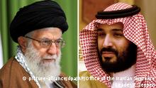 Bildkombo Ajatollah Ali Chamenei und Mohammed bin Salman