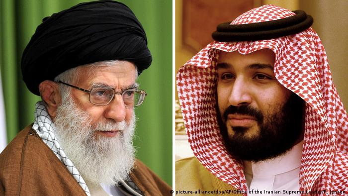 Bildkombo Ajatollah Ali Chamenei und Mohammed bin Salman (picture-alliance/dpa/AP/Office of the Iranian Supreme Leader/R. Jensen)