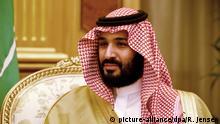 ***BG Kronprinz Saudi-Arabien Mohammed bin Salman**** ARCHIV- Der damalige saudische Vize-Kronzprinz und Verteidignungsminister Mohammed bin Salman al-Saud, aufgenommen am 08.12.2016 im Palast Divan in Riad (Saudi-Arabien). (zu dpa «Der Feind nebenan:Droht Eskalation zwischen Saudi-Arabien und Iran?» vom 27.12.2017) Foto: Rainer Jensen/dpa +++(c) dpa - Bildfunk+++ | Verwendung weltweit
