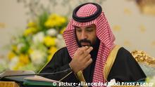 Saudi-Arabien | Kronprinz Mohammed bin Salman während einer Kabinettssitzung