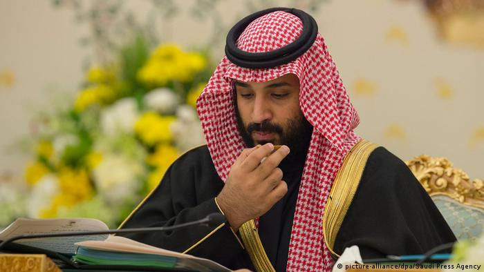 Saudi King Mohammaed bin Salman during a cabinet meeting (picture-alliance/dpa/Saudi Press Agency)