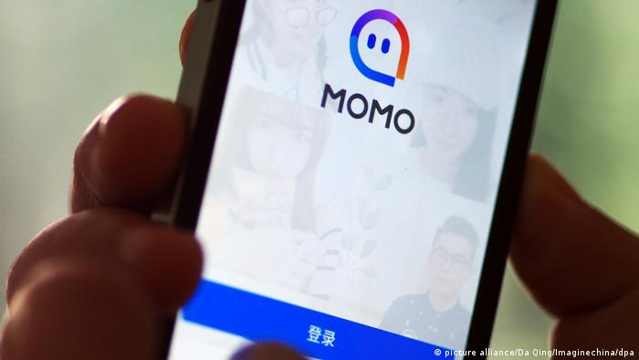 Logo Momo chinesische Dating-App (picture alliance/Da Qing/Imaginechina/dpa)