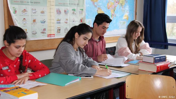 Students at the Bertha-von-Suttner-Gymnasium in Oberhausen