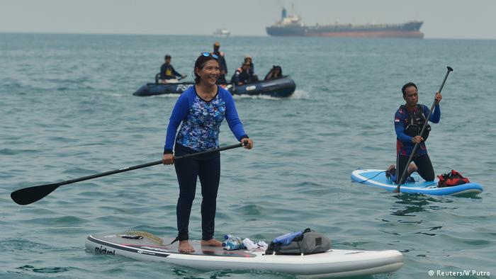 Susi Pudjiastuti, indonesische Ministerin für Fischerei (Reuters/W.Putro )