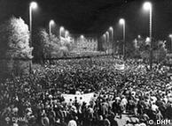 Manifestação de segunda-feira em Leipzig