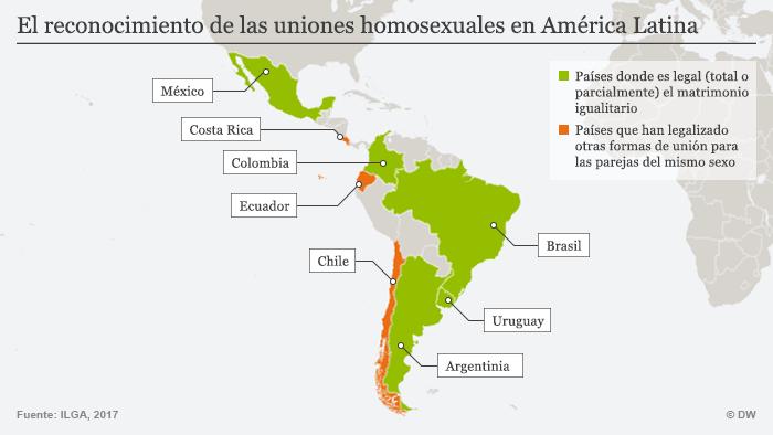 Infografik Karte Homosexualität Latein Amerika SPA