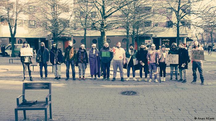 Berlin, die Realität der Menschen in Ghouta als Flashmob (Anas Allawi)