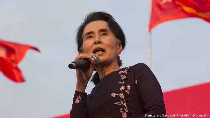 Myanmar Aung San Suu Kyi (picture-alliance/AP Photo/Khin Maung Win)