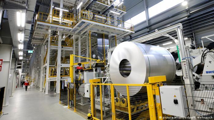 Производство алюминия в немецком Гревенбройхе