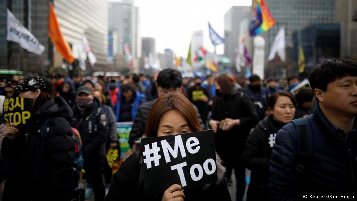 Proteste beim Weltfrauentag in Asien Südkorea (Reuters/Kim Hng-Ji)