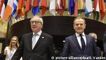 EU-Sondergipfel in Brüssel Jean-Claude Juncker und Donald Tusk
