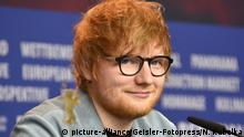Ed Sheeran during the 'Songwriter' press conference at the 68th Berlin International Film Festival / Berlinale 2018 on February 23, 2018 in Berlin, Germany. | Verwendung weltweit