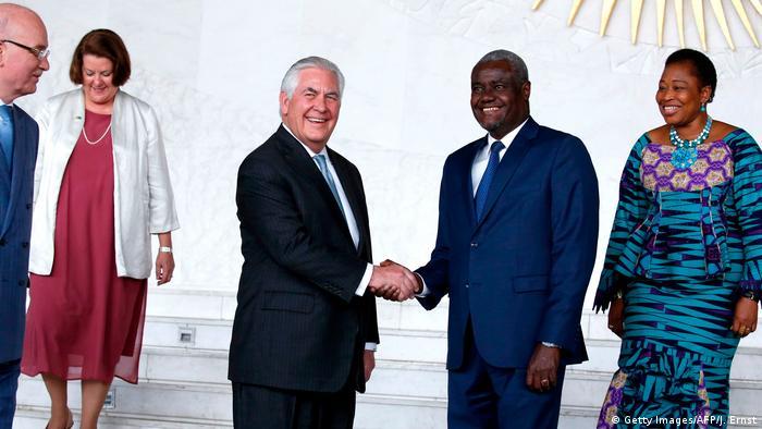 Äthiopien Rex Tillerson und Moussa Faki Kommissionsvorsitzender Afrikanische Union (AU)