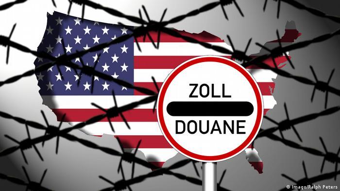 Symbolbild Handelskrieg USA und EU (Imago/Ralph Peters)