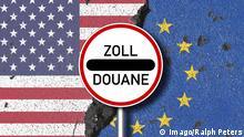 Symbolbild Handelskrieg USA und EU