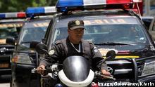 Polizei-Patrouille in Guatemala-Stadt