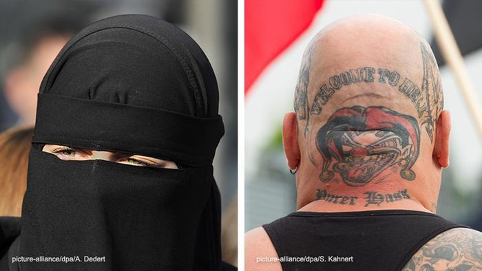 Bildkombo Salafisten Neonazis